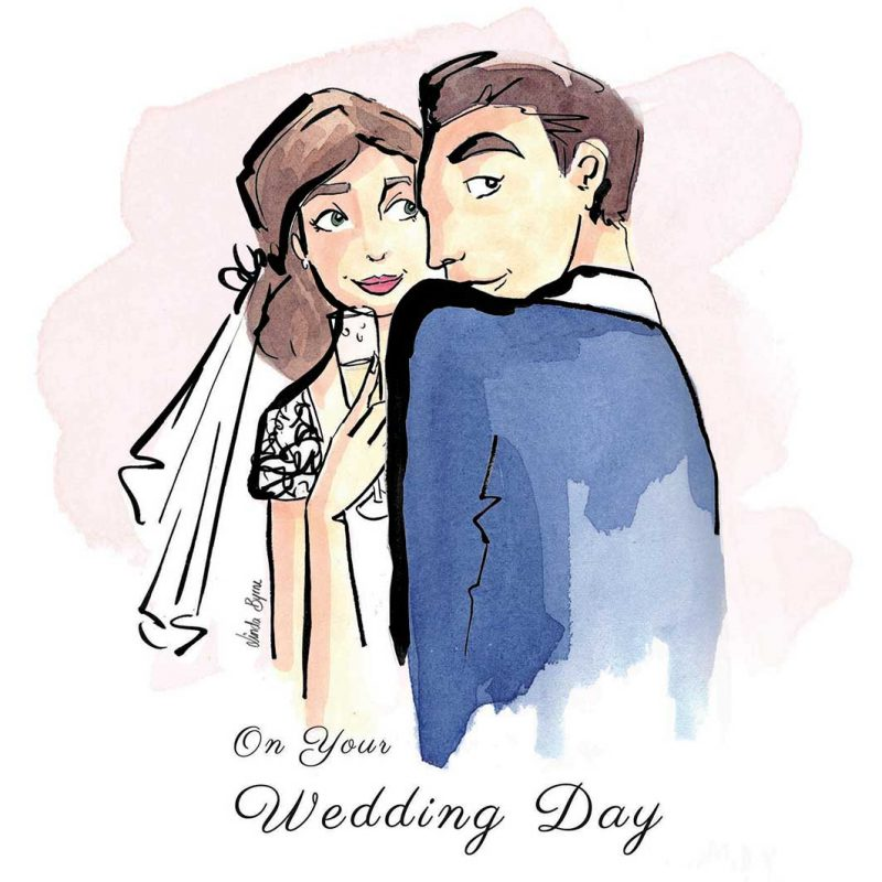 Greeting Card, Linda Byrne Illustration, Linda Byrne Fashion, Wedding Card, Wedding illustration