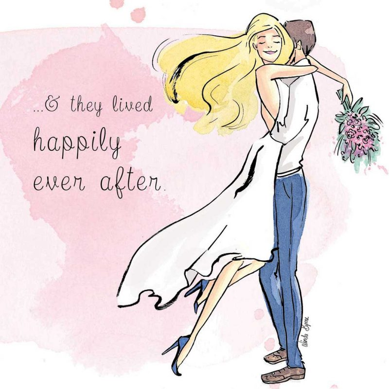 Linda Byrne Illustration, Wedding Day Card, Greeting Card, Fashion Illustration Wedding Card, Wedding Illustrator