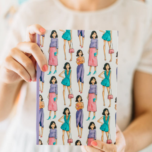 Street Style Notebook Linda Byrne Illustration Giftware Stationary