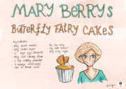 Linda Byrne Illustration Mary Berry Butterfly Fairy Cake Illustrated Recipe